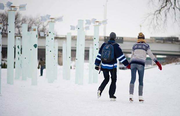 Skating at the Forks River Trail